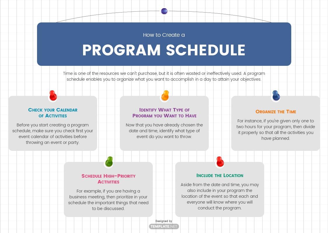 program schedule template