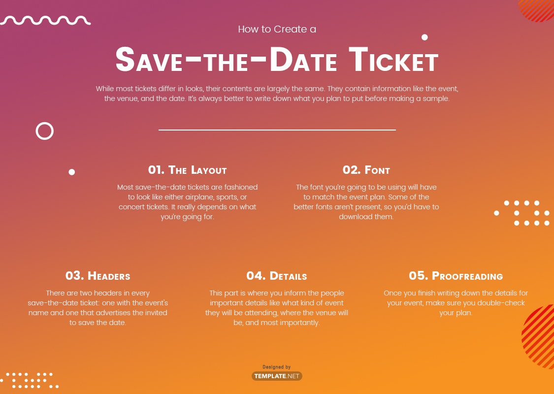save-the-date ticket template