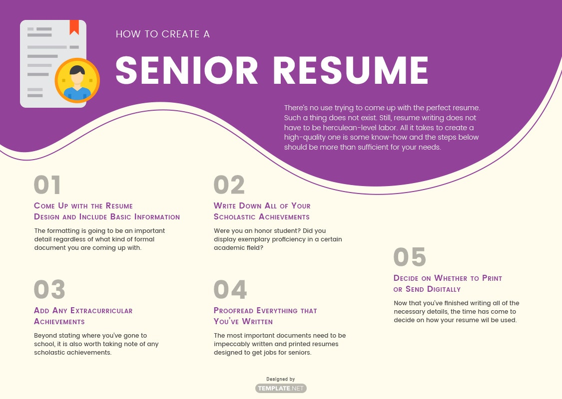 senior resume template