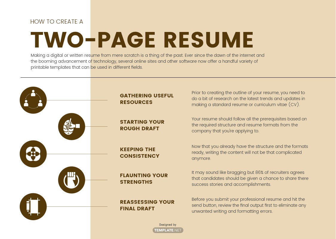 two-page resume template