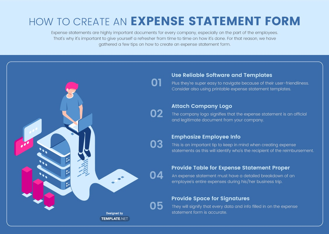 expense statement form template