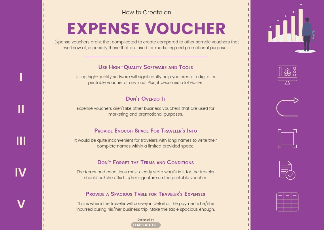 how to create an expense voucher