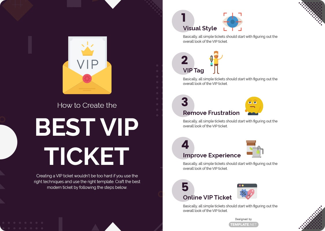 how to create the best vip ticket