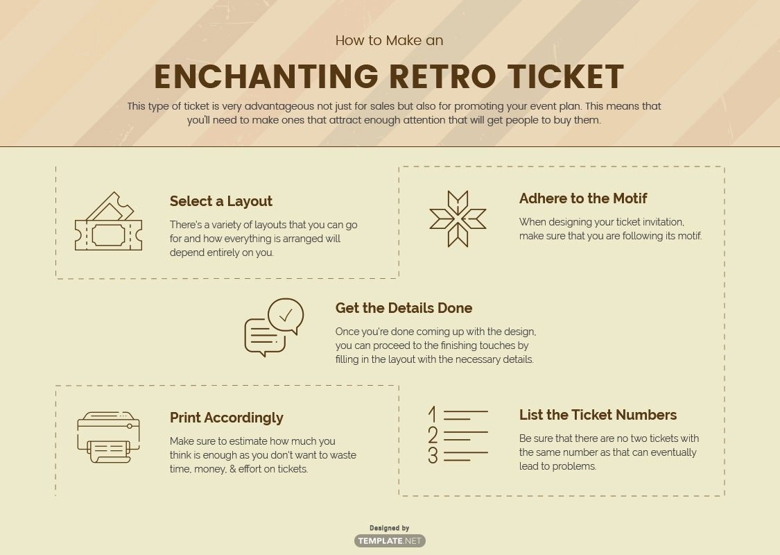 how to make an enchanting retro ticket