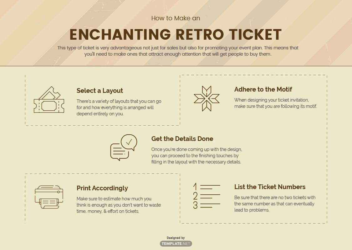retro ticket template
