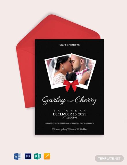 modern wedding invitation card template