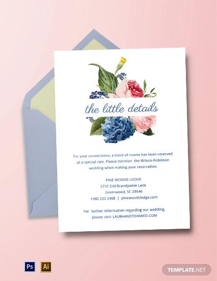 pocket wedding invitation template