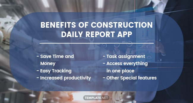 benefits of construction daily report app