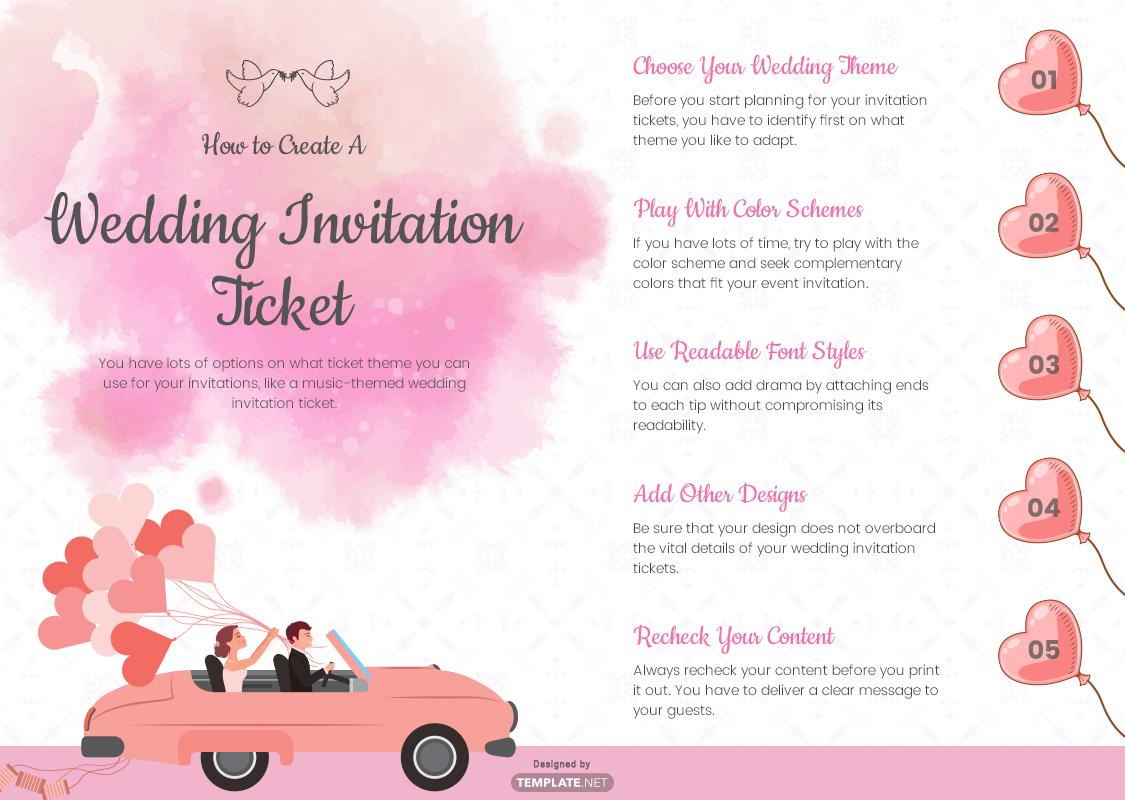 wedding invitation ticket template