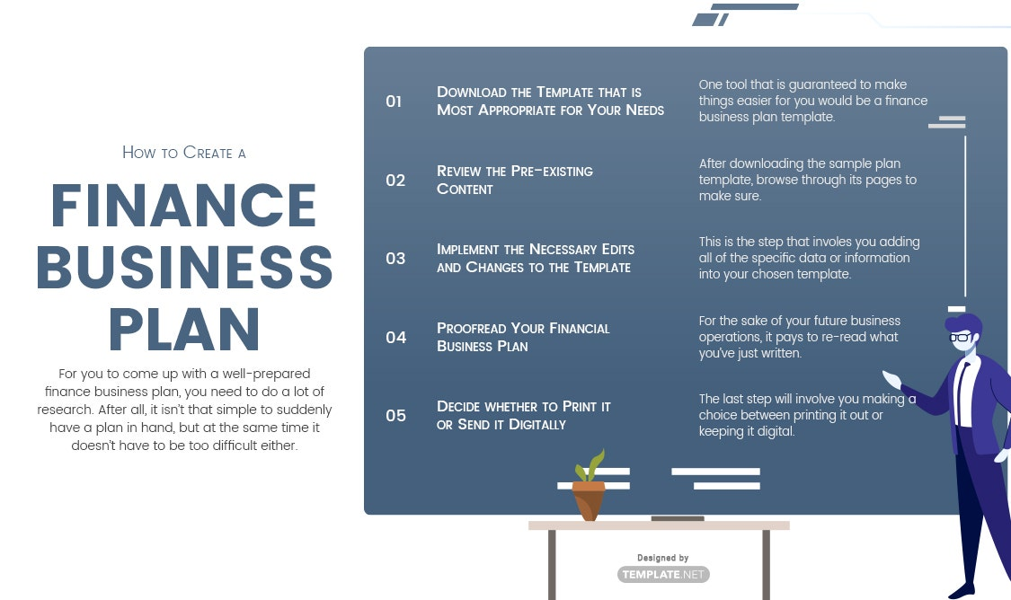 finance business plan template