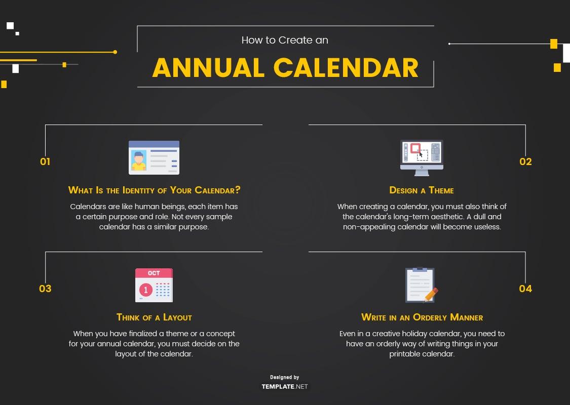 annual calendar template