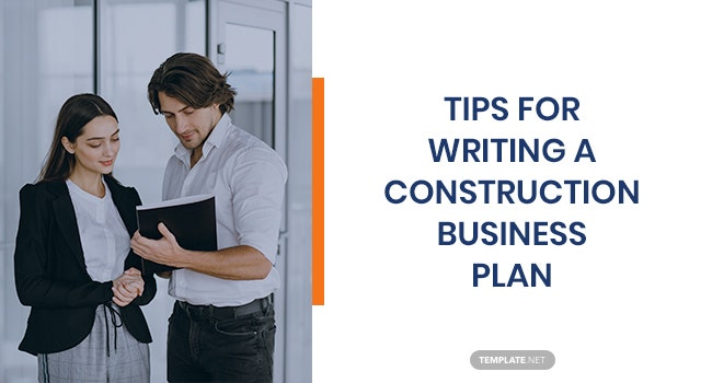 tips for writing a construction business plan