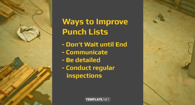 ways to improve construction punch lists