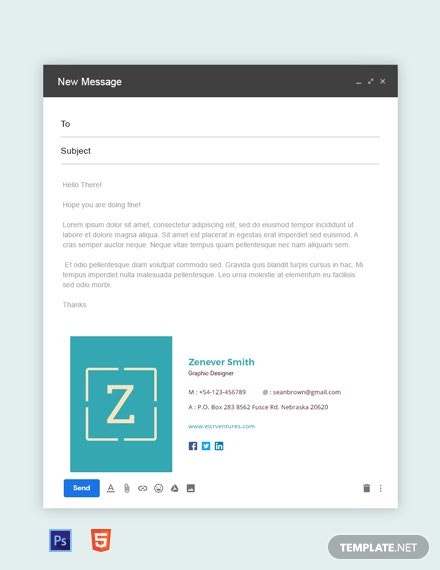 free creative graphic designer email signature
