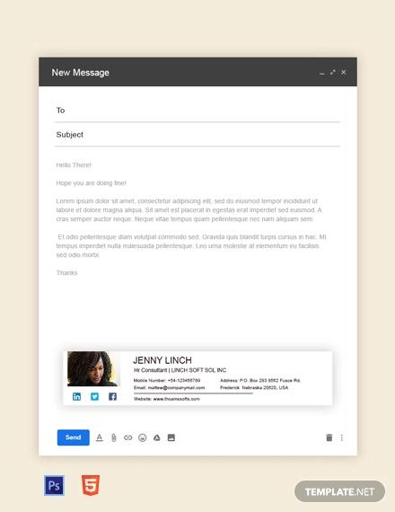 free hr consultant email signature