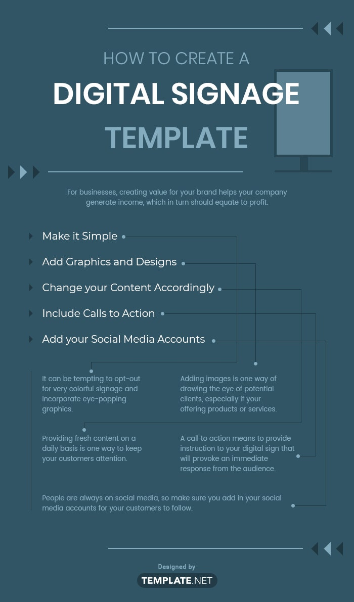 how to create a digital signage template