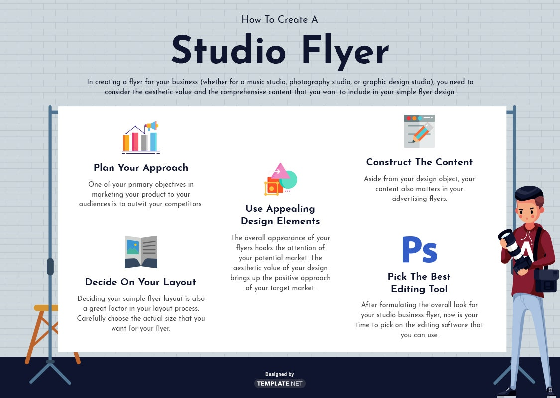 studio flyer template
