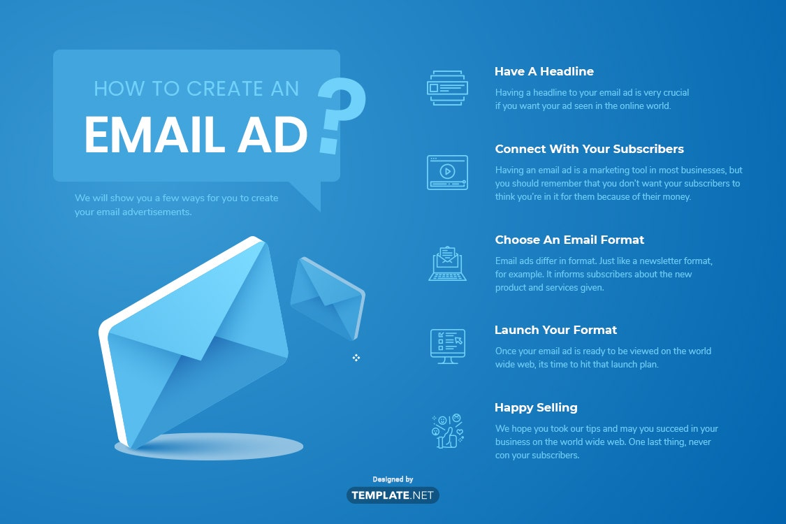how to create an email ad?