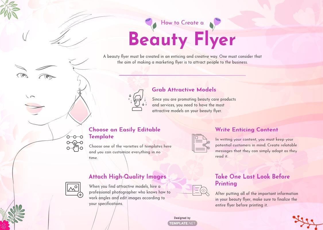 beauty flyer template