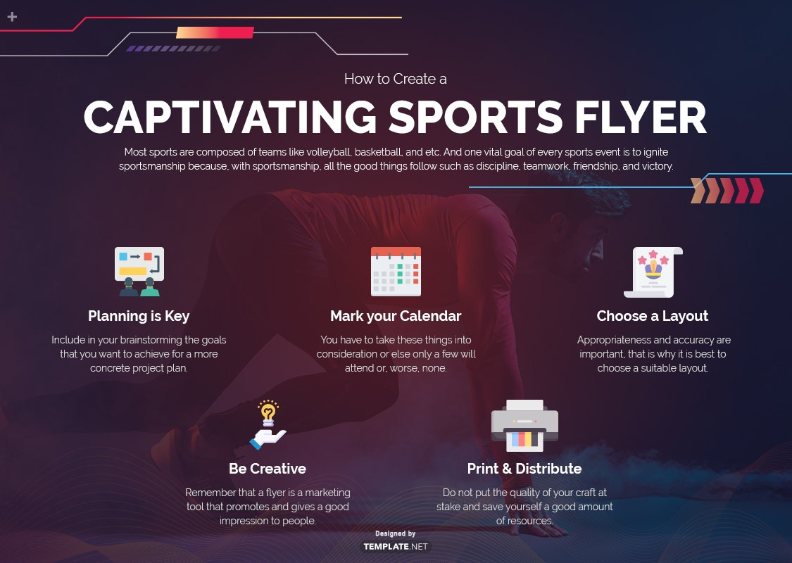 how to create a captivating sports flyer