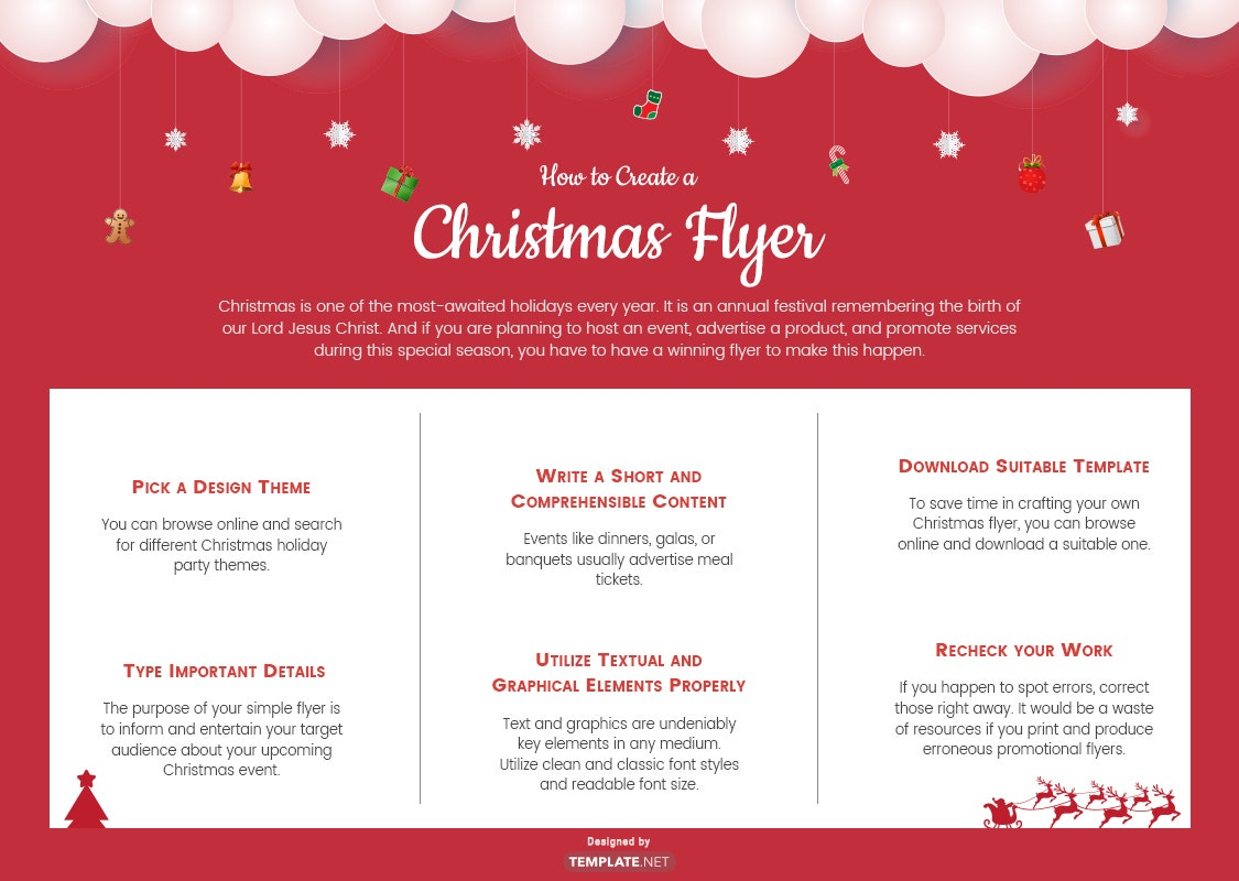 how to make a christmas flyer