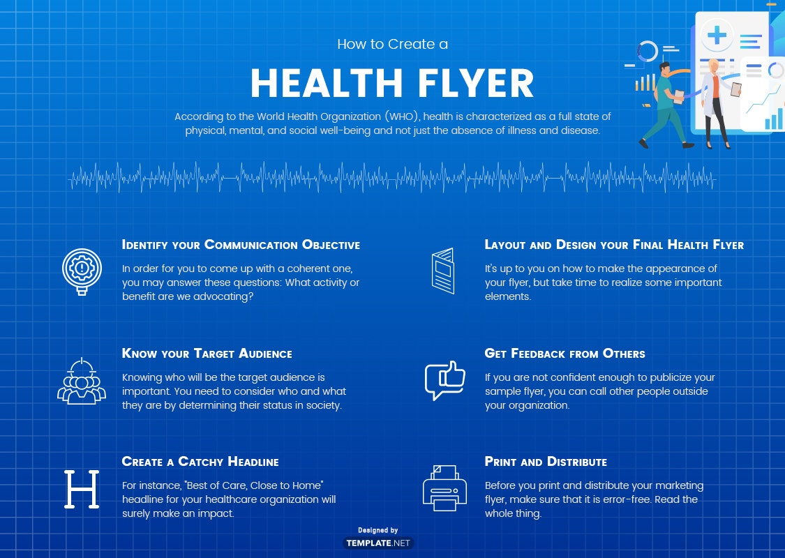 how to create a health flyer