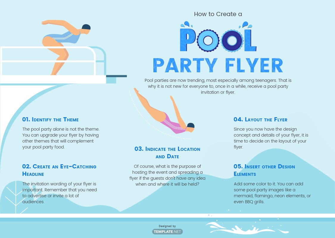 how to create a pool party flyer