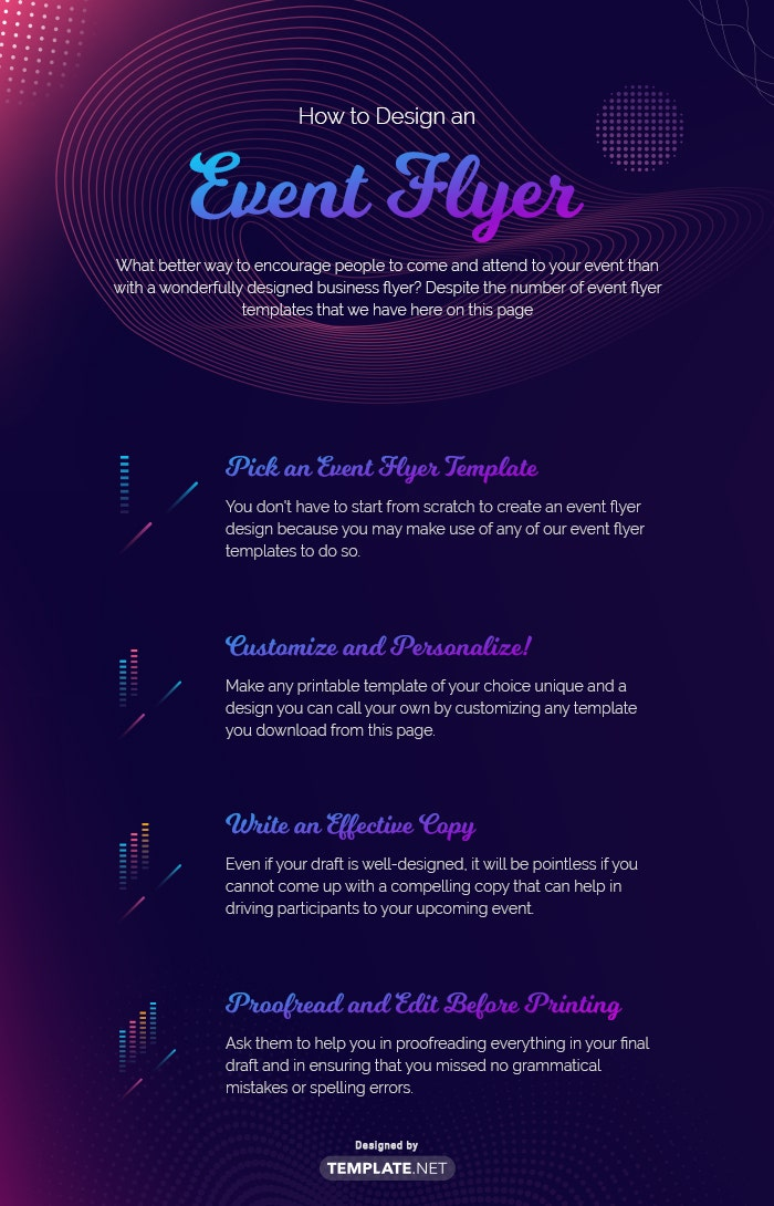 how to make an event flyer