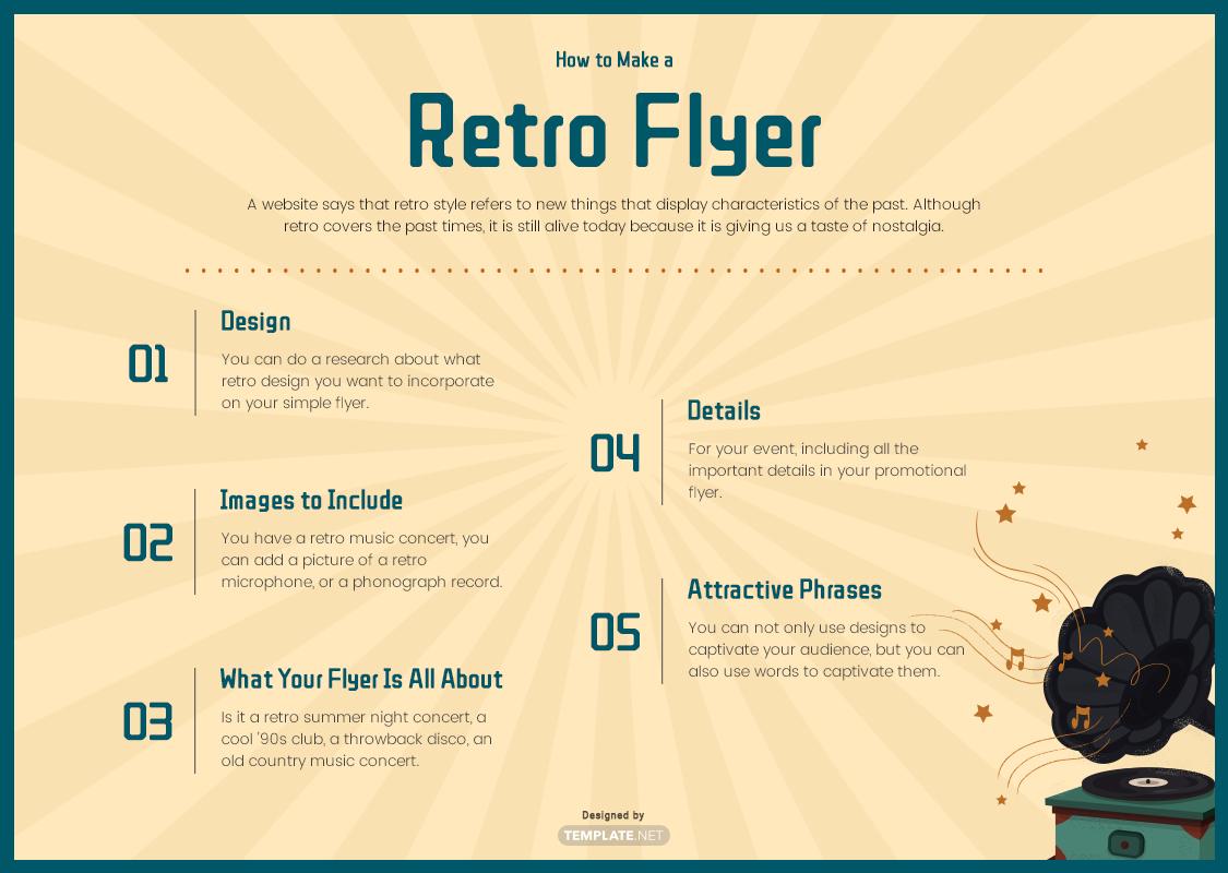 retro flyer template