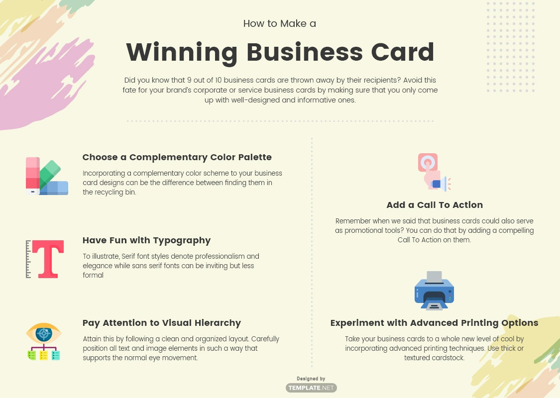 how to make a winning business card