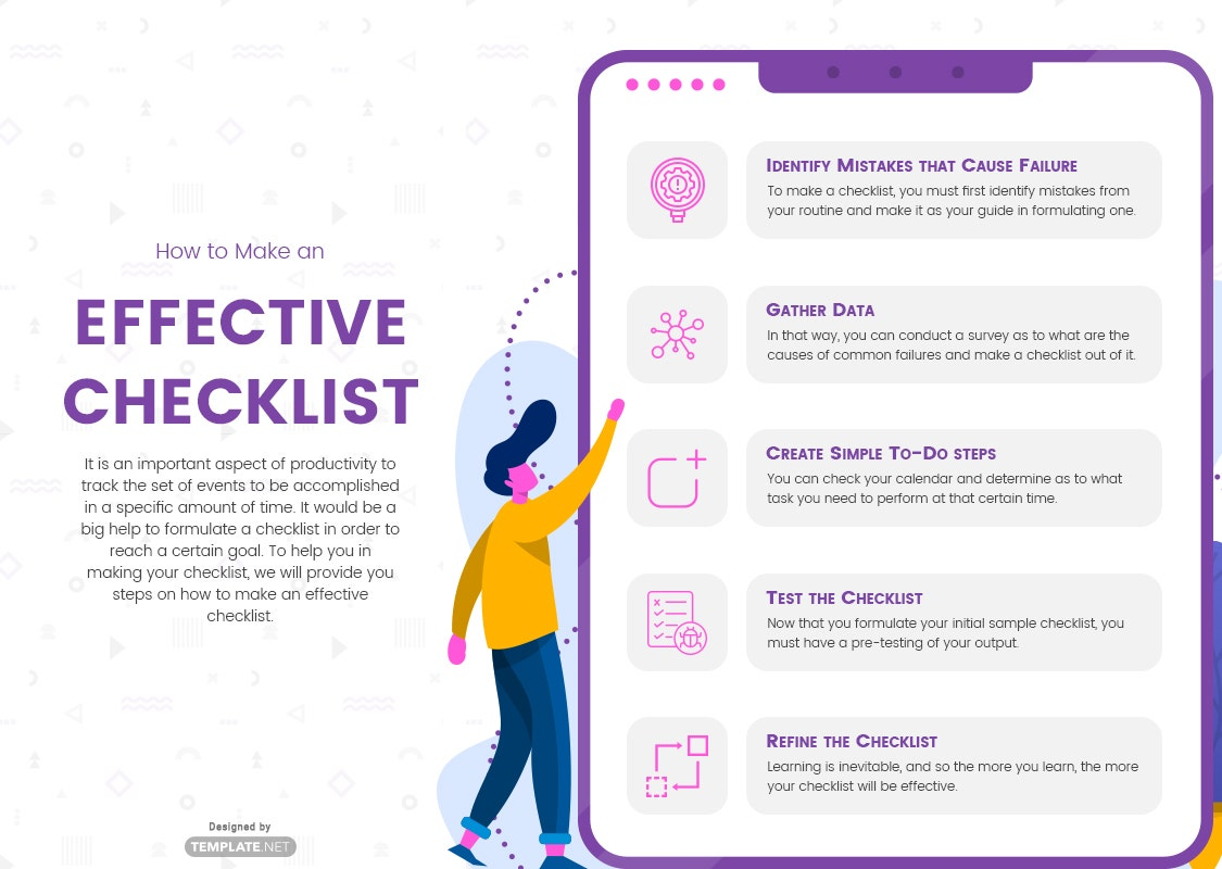 how to make an effective checklist