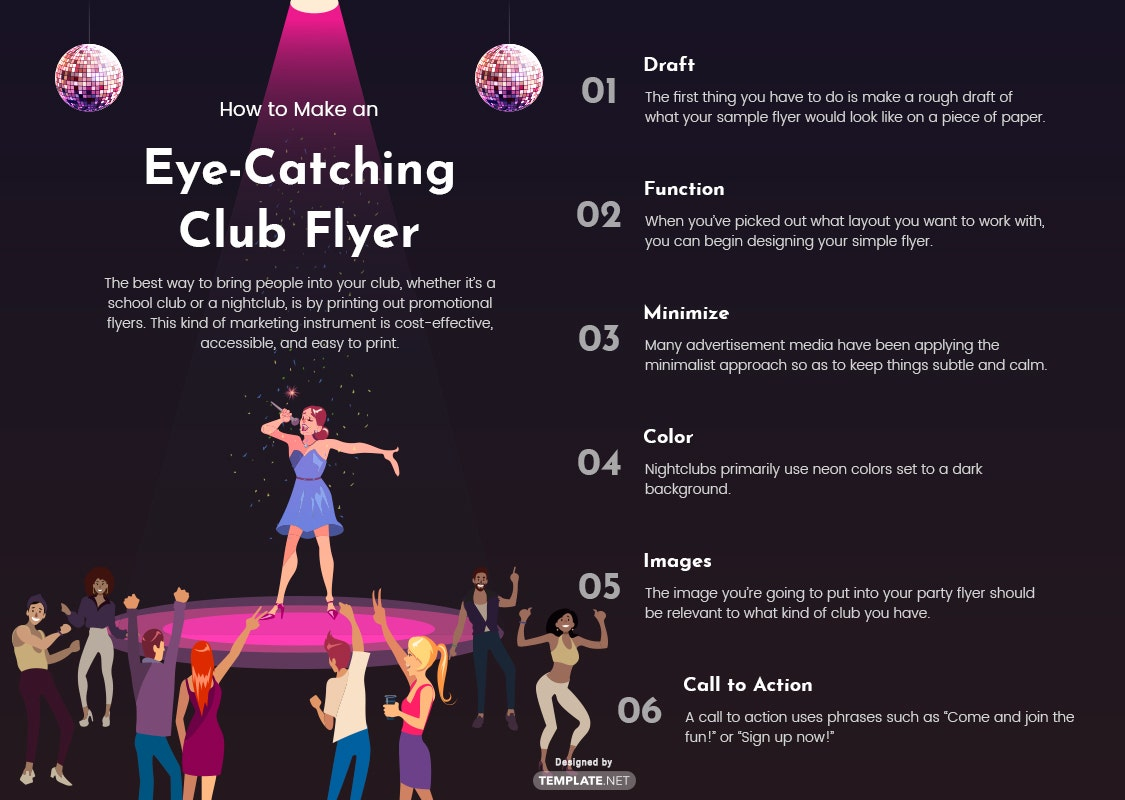 how to make an eye-catching club flyer