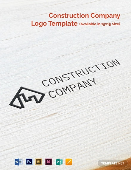 construction company logo template