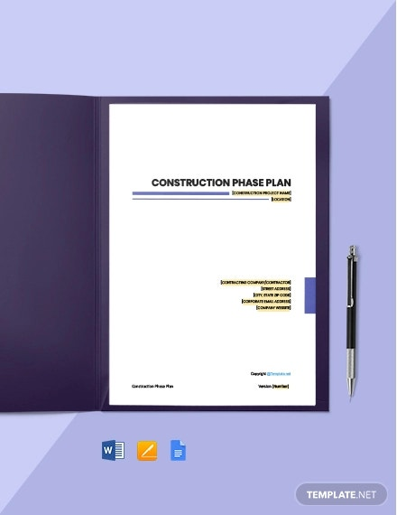 free sample construction phase plan template