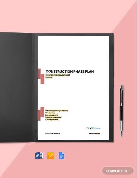 free simple construction phase plan template