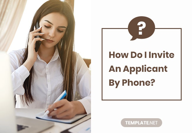 how do i invite an applicant by phone