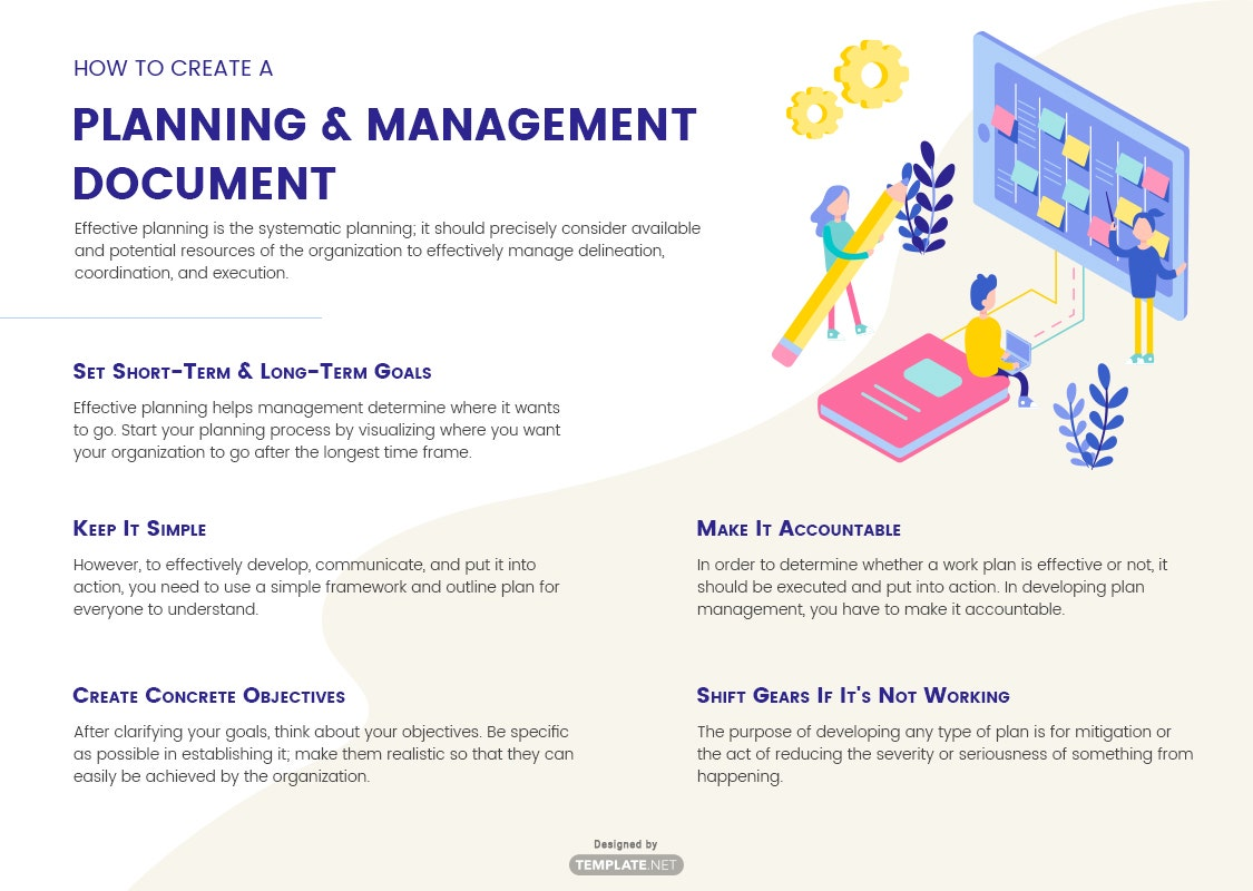 how to create a planning & management document