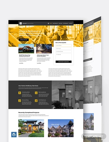 building construction wordpress theme