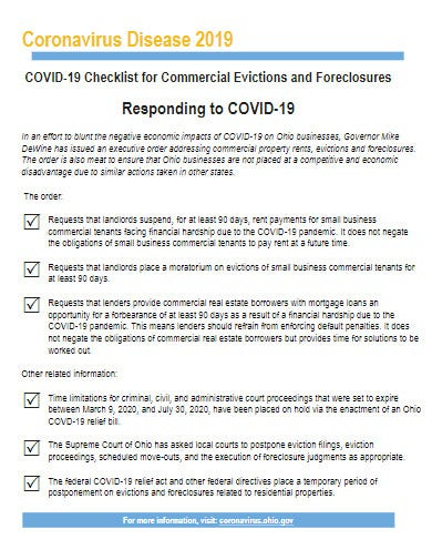 covid 19 checklist for commercial evictions template1