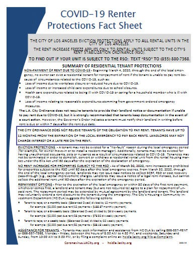 covid 19 eviction protections fact sheet