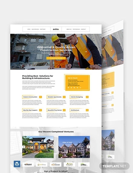 construction company wordpress theme1