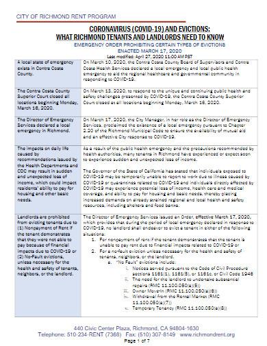 coronavirus covid 19 evictions template