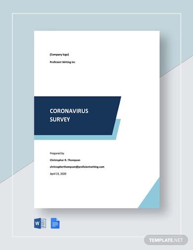 coronavirus survey template