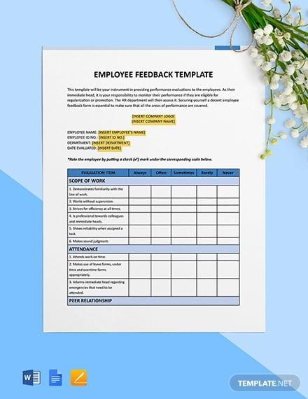 employee feedback template