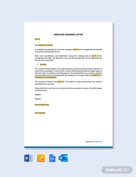 Sample Warning Letter To Employee For Insubordination from images.template.net