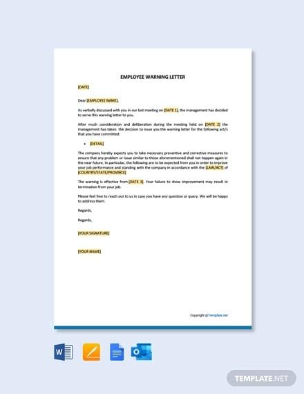 employee warning letter template1