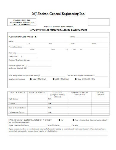 employee work from home application form