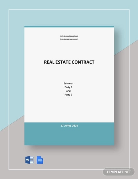 free basic real estate contract template1