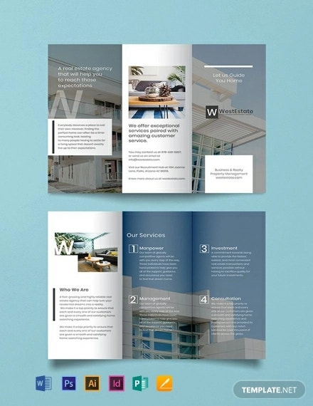 free commercial real estate brochure template1