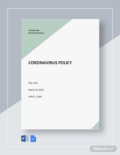 free coronavirus policy template